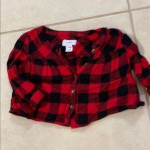 Buffalo check plaid flannel baby girls shirt